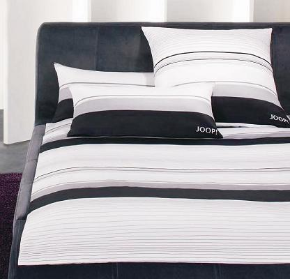 joop mako satin bettw sche 155x220 fine lines 4030 9 schwarz weiss ebay. Black Bedroom Furniture Sets. Home Design Ideas