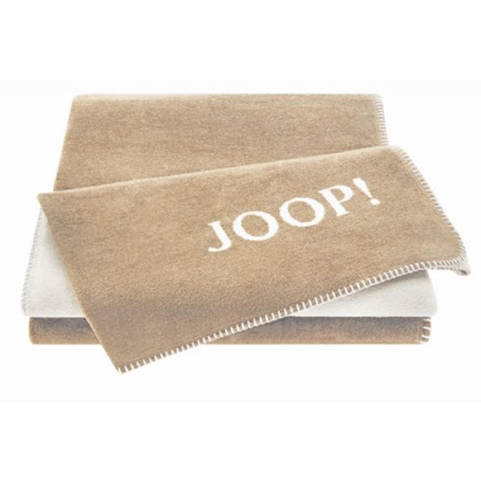 joop 585639 uni doubleface wohndecke kuscheldecke decke schnur taupe ebay. Black Bedroom Furniture Sets. Home Design Ideas