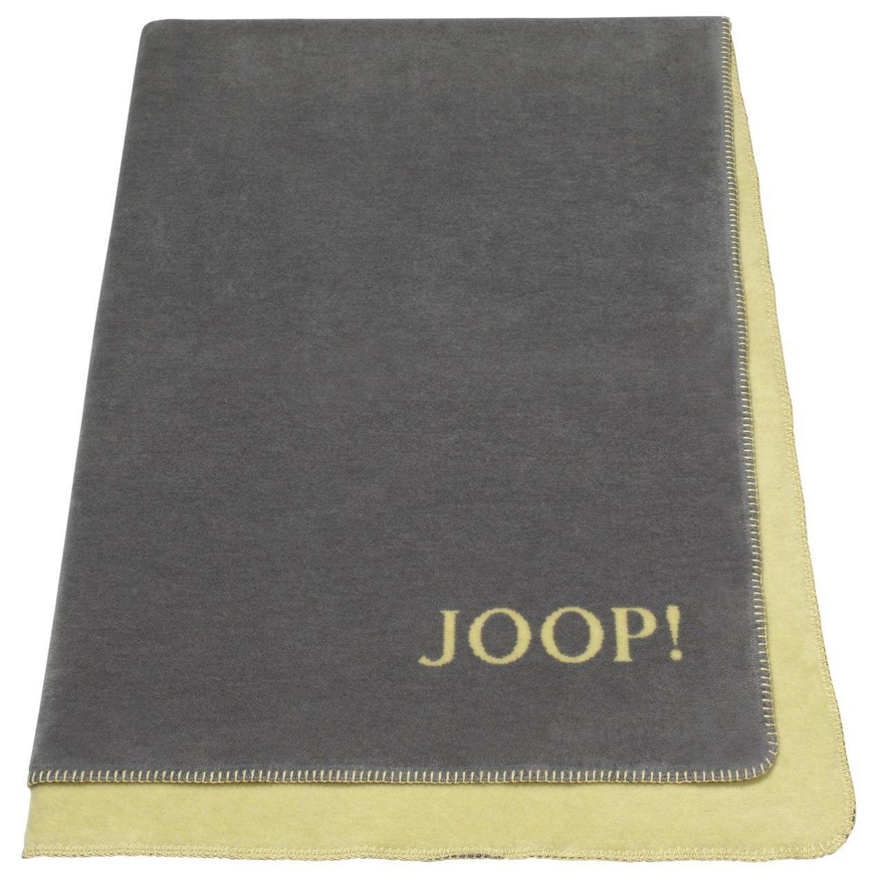 joop uni doubleface wohndecke 606938 graphit schwefel kuscheldecke decke ebay. Black Bedroom Furniture Sets. Home Design Ideas