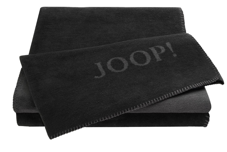 joop uni doubleface wohndecke decke schwarz anthrazit 587114 warm sehr edel ebay. Black Bedroom Furniture Sets. Home Design Ideas