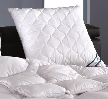 fan schlafgut kansas kissen kopfkissen 80x80 peach touch effekt frankenstolz ebay. Black Bedroom Furniture Sets. Home Design Ideas