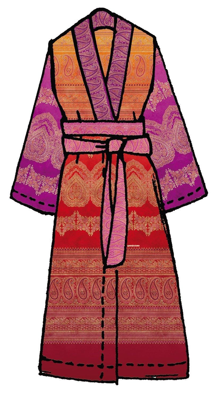 Bassetti Kimono BRUNELLESCHI V1 Größe S-M Druck mit beständigen Farben
