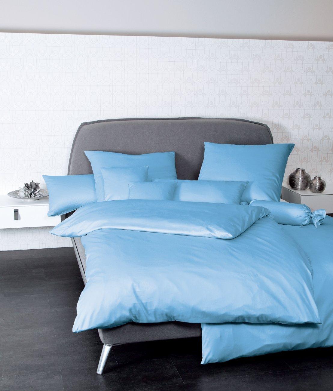 Janine Kissenbezug 40x80 cm 100% Baumwolle 31001-22 hellblau