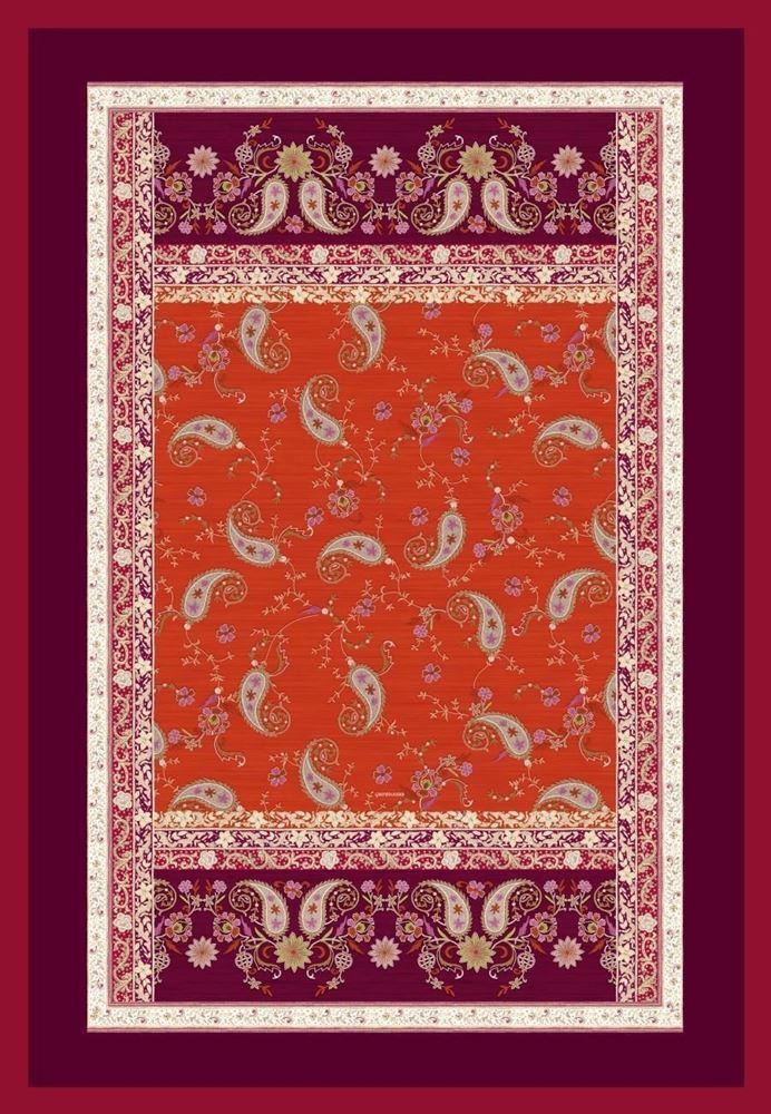 bassetti Plaid  Raffaello V1 Rot Wohndecke Tagesdecke Sofadecke 135x190