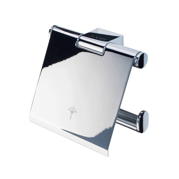 JOOP! Chromeline Wand WC Toilettenpapierhalter mit Deckel Logo Gravur 10780000