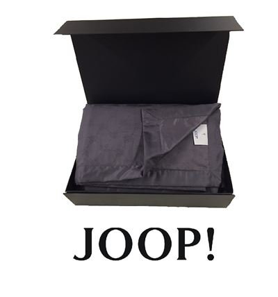 Joop! Plaid Cornflower Allover 100% Baumwolle 150x210 cm 4020 29 Quarz