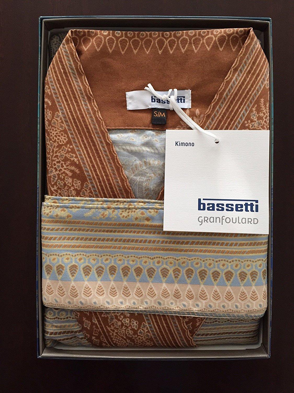 Bassetti Kimono BRUNELLESCHI V7 GRIGIO Größe S-M Druck beständige Farben