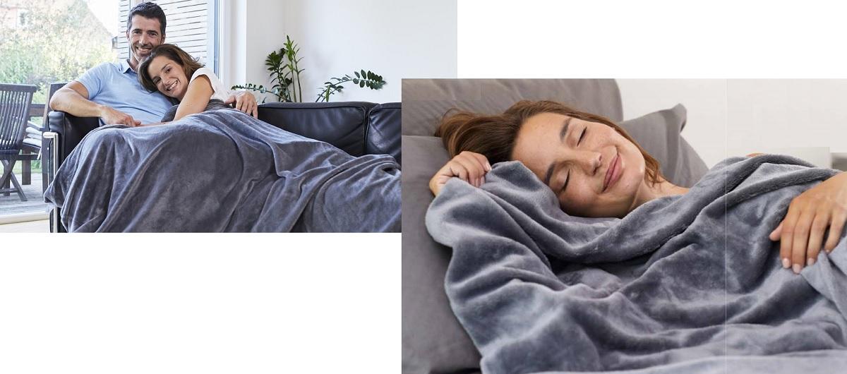 Gewichtsdecke Relax light 6kg geborgen besser schlafen Wohndecke 135x200 cm
