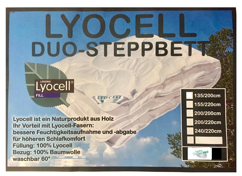Ganzjahresdecke Lyocell Tencel 100% Natur Duo Decke für hohen Schlafkomfort