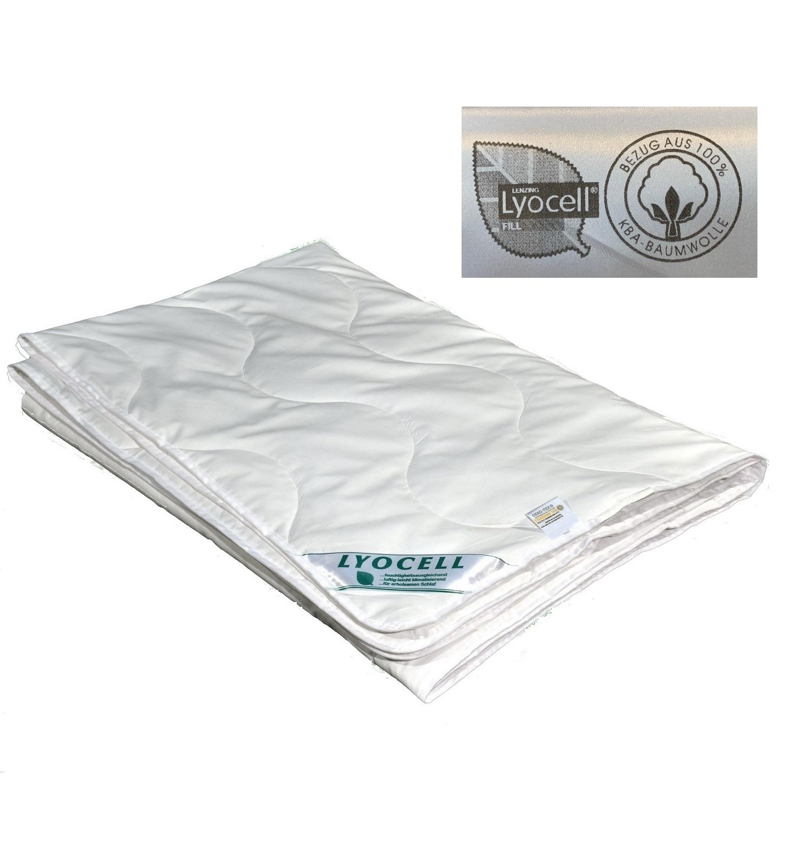 Sommerdecke super leicht Lyocell Tencel kbA kontr. bio Anbau 100% Natur 200x220 cm