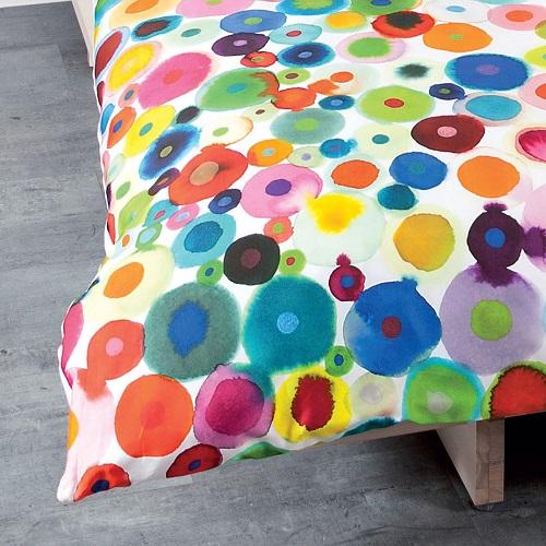 Janine Bettwäsche Mulitcolor 42030 100% Baumwolle Mako-Satin Wendebettwäsche