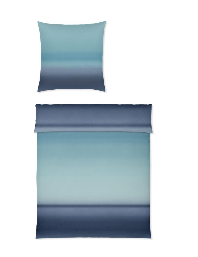 yes for bed Bettwäsche Waterfall 770 02 Blau 135x200 100% Baumwolle Mako Satin