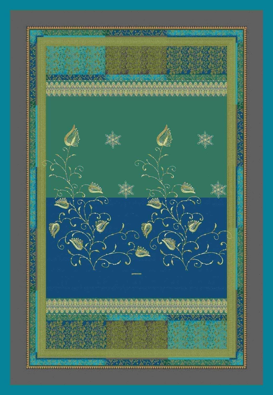 Bassetti Plaid Bernina dekorative Motive elegant und raffiniert V2 135x190 cm