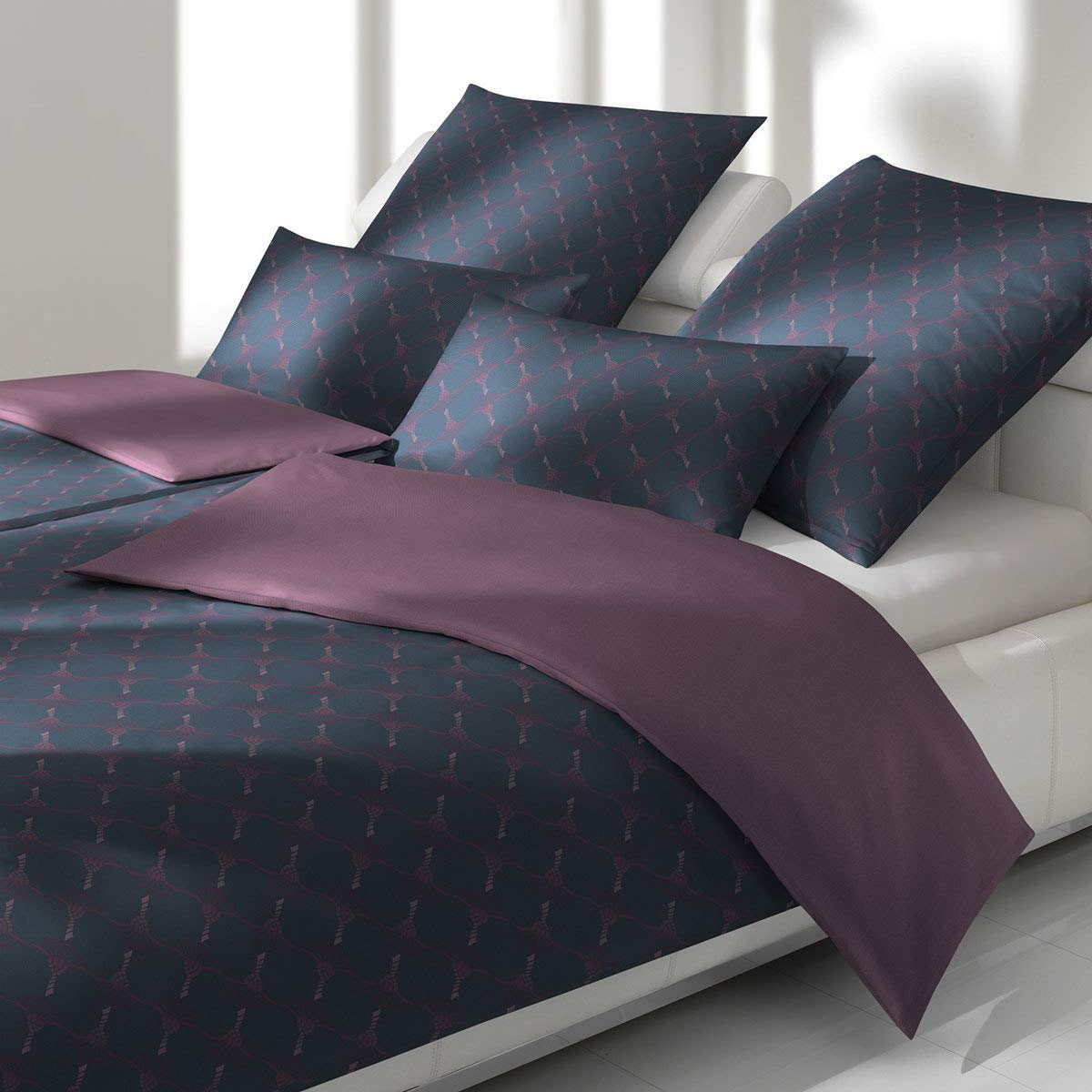 JOOP! Bettwäsche Cornflower Double 4083-05 Midnight Purple 135x200 cm