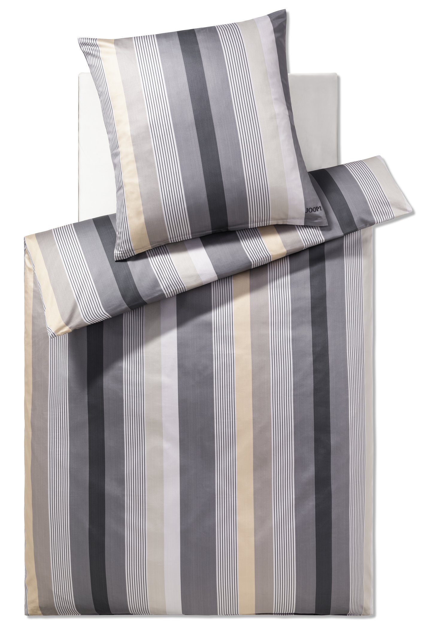 JOOP! Bettwäsche Stripes 4093-07 Stone 135x200 cm Kollektion 2020