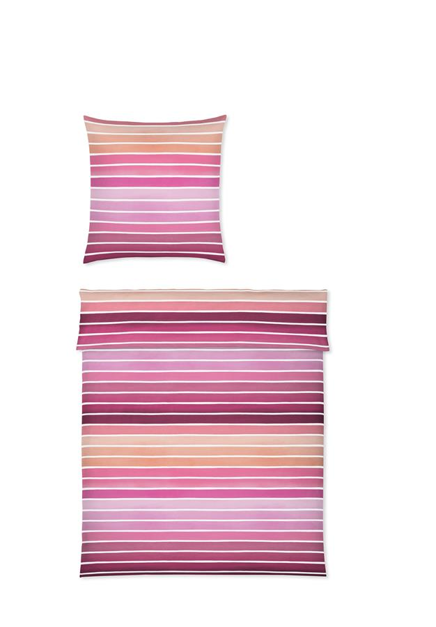 yes for bed Bettwäsche SUNRISE 781-1 Rosa 100% Baumwolle Mako-Satin 155x220