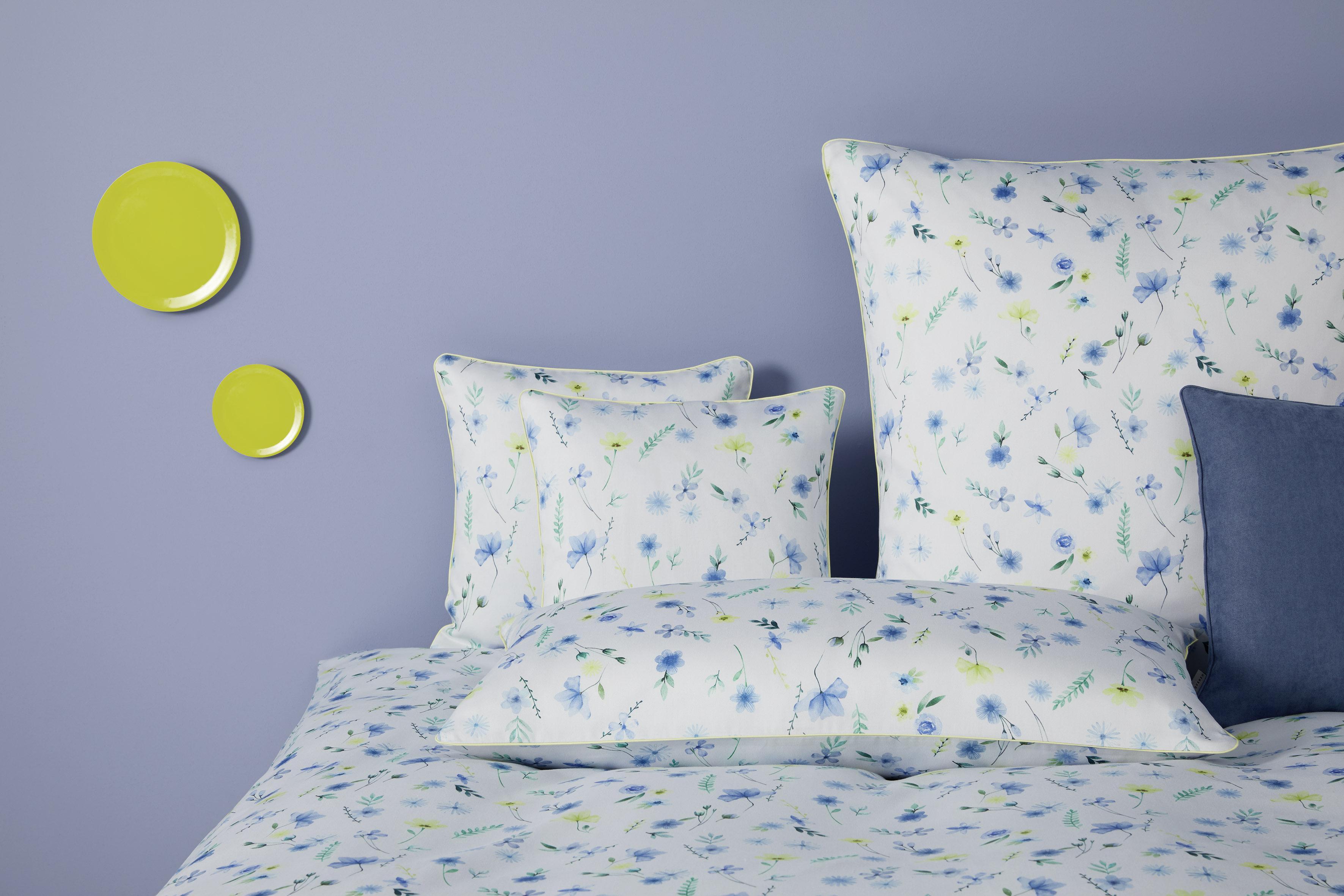 yes for bed Bettwäsche WILD Flowers 779-2 Blau 100% Baumwolle 135x200 cm Sale