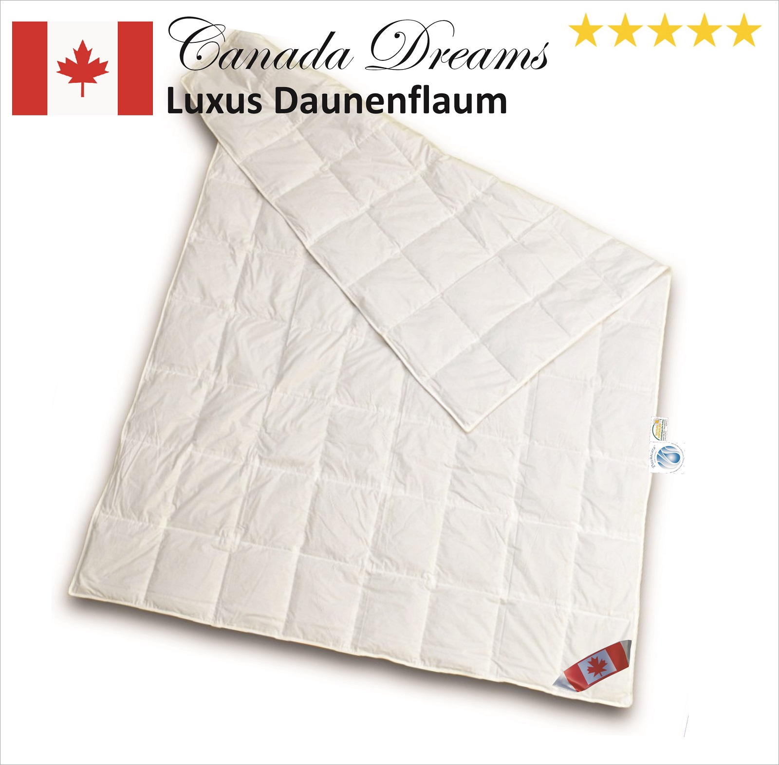 Canada Dreams Luxus Übergangs Daunendecke Daunenflaum CD 2 220x240