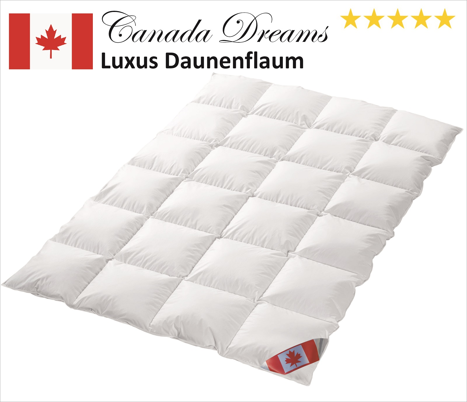 Canada Dreams Luxus Winter Daunendecke PLUS Wärmegrad 4 240x220 cm