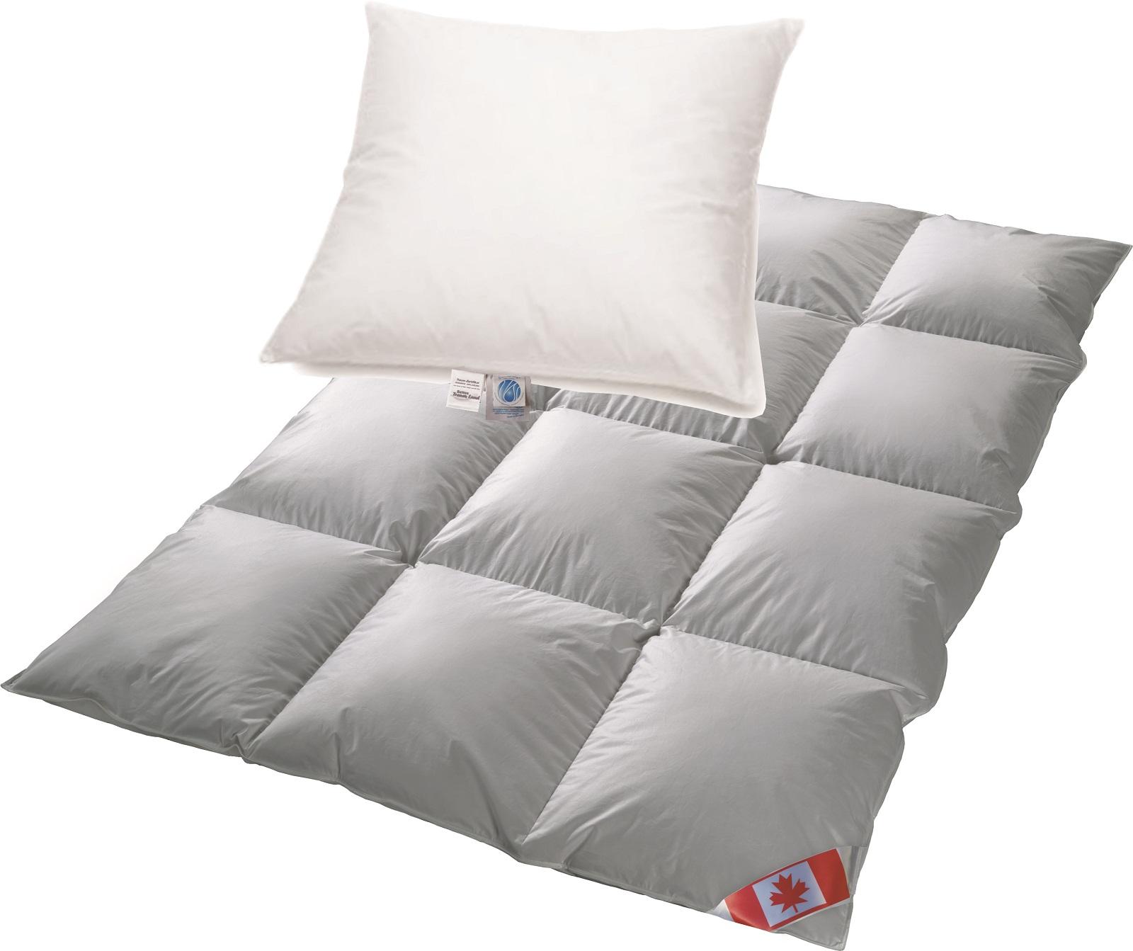 Set Canada EXTRA warme Winterdecke R5 100%Daune 135x200 + Kissen ARKTIC 80x80