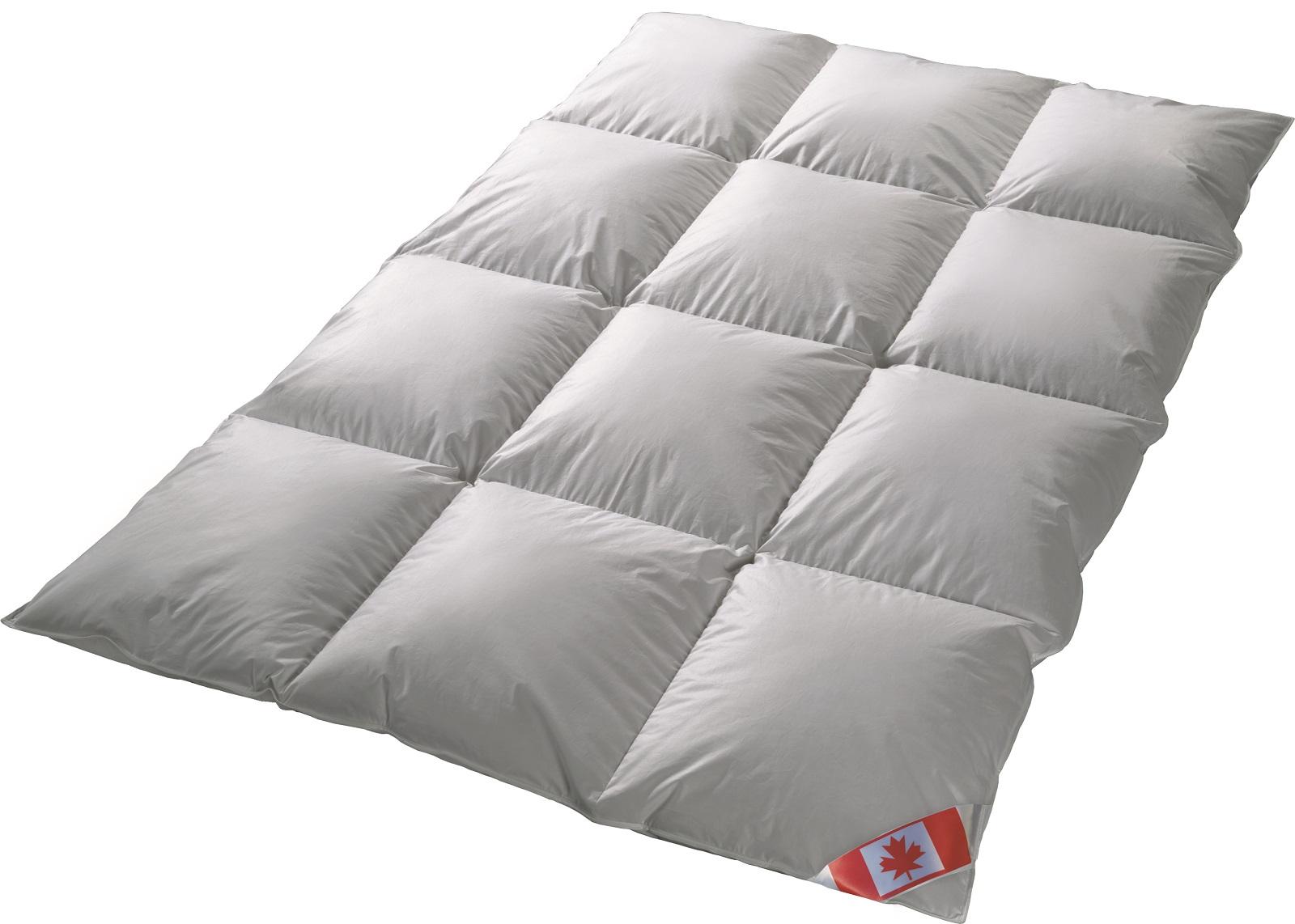 Canada Kassetten Daunendecke EXTRA warm Winter 100% Daune 100% Natur 135x200 R5