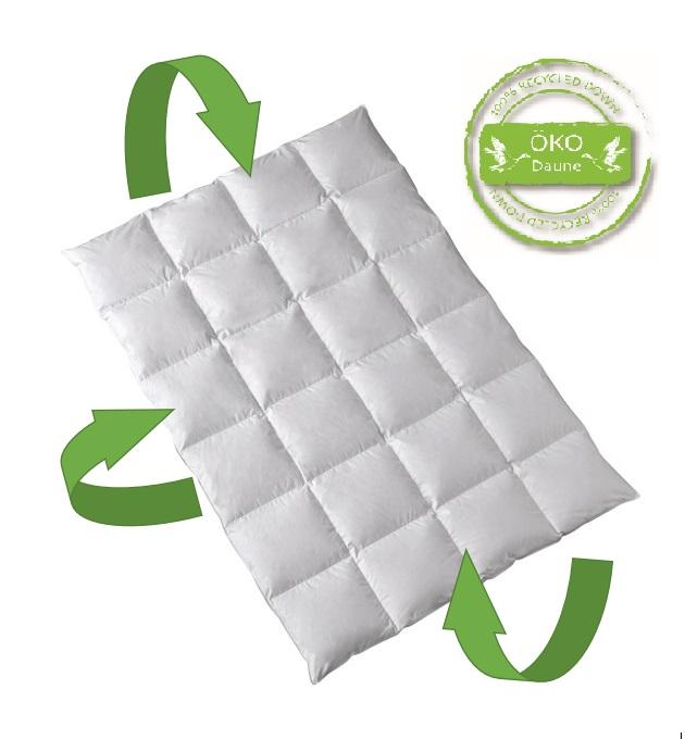 Öko Daune Winterdecke 100% Daune recycelt: nachhaltig ökologisch wertvoll
