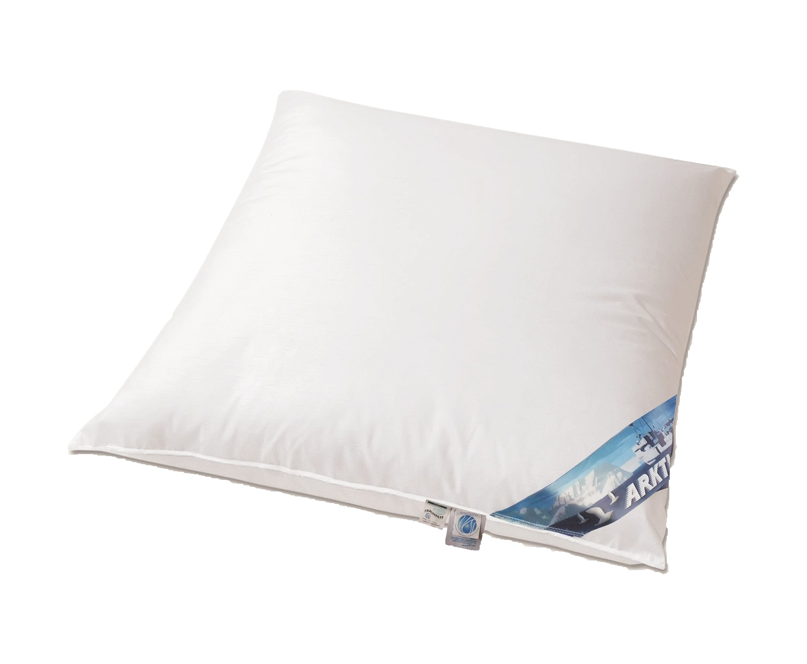 arktic daunenkissen arktischer daunenflaum 100 daunen 80x80 weich. Black Bedroom Furniture Sets. Home Design Ideas