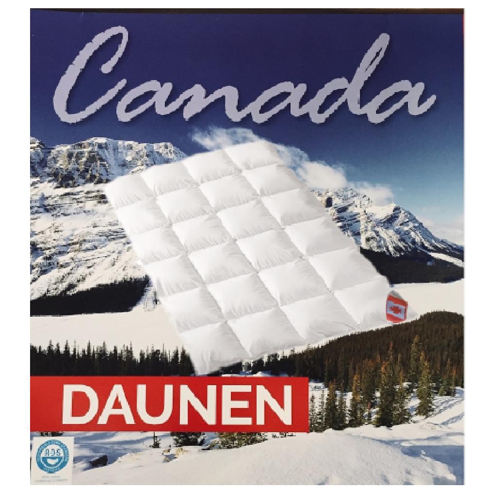 Daunendecke Ganzjahresdecke 155x220 cm canadische Daunen Federn ca. 912 g Klasse 1 Künsemüller