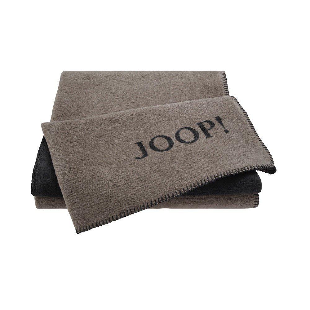 JOOP! Uni-Doubleface Wohndecke Decke Taupe-Anthrazit 631381