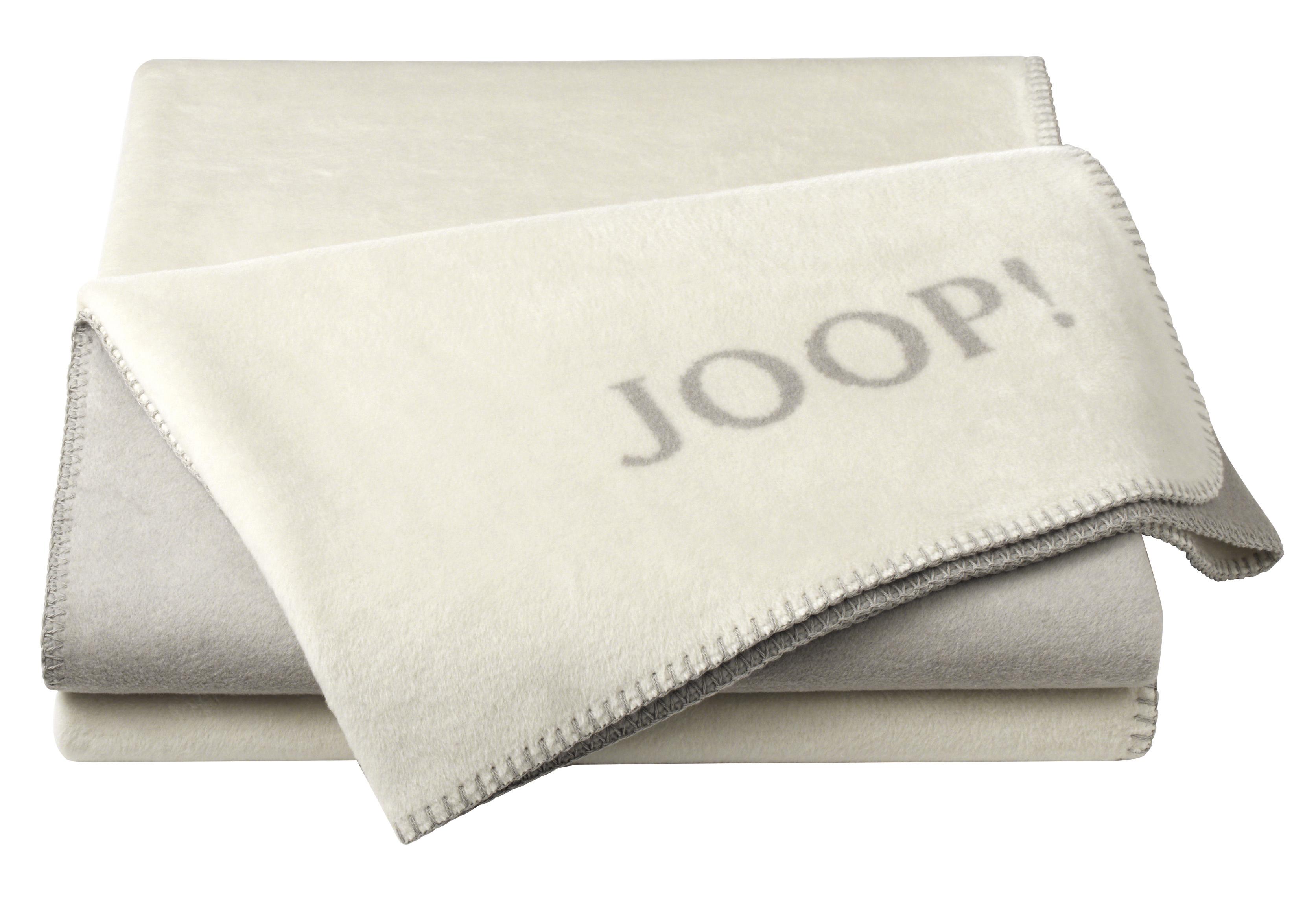 joop uni doubleface wohndecke decke asche schnur 585615. Black Bedroom Furniture Sets. Home Design Ideas