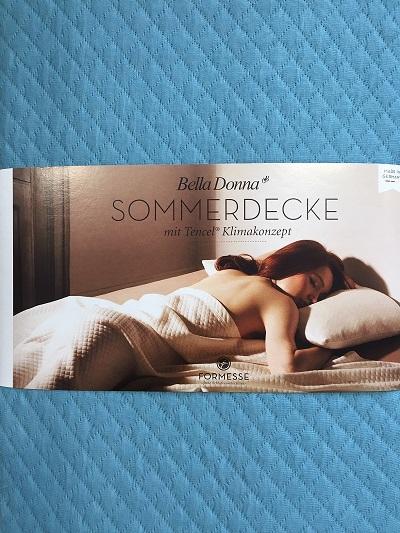 Bella Donna Sommerdecke 220x260 cm Tencel 0302 Arktis extra leicht
