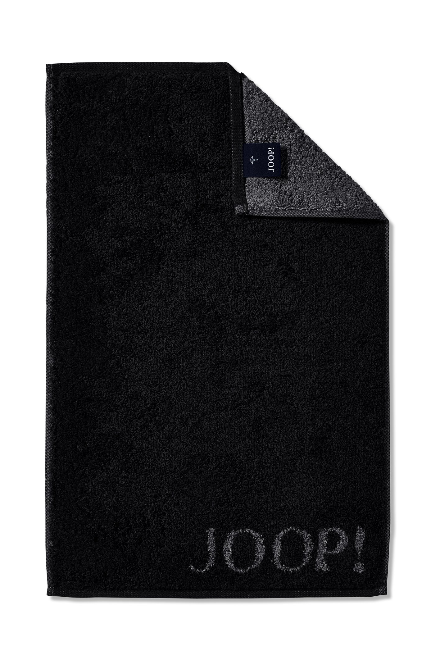 JOOP! Classic Doubleface Gästetuch 30x50 cm 1600-90 Schwarz Kollektion 2020