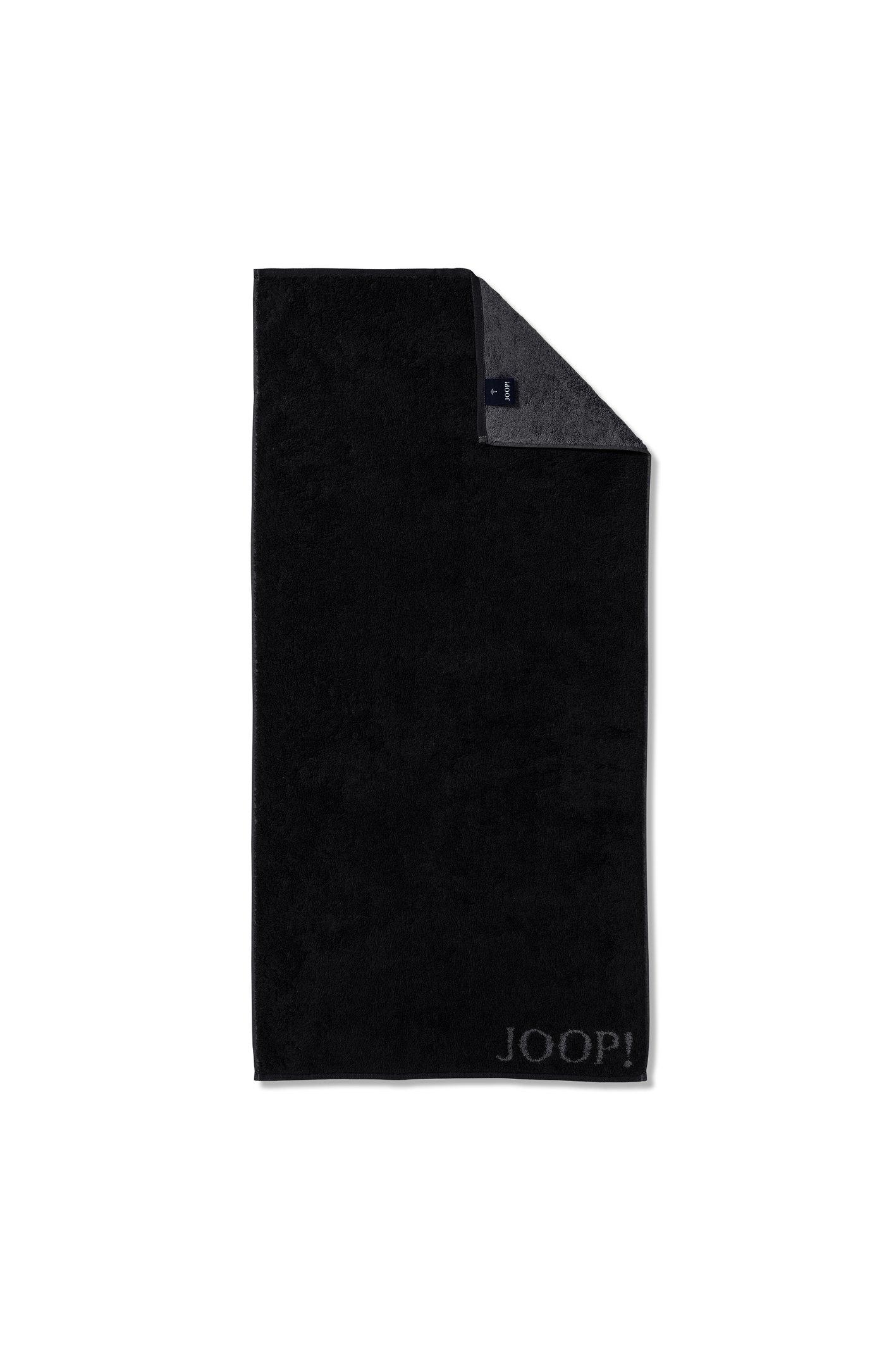 JOOP! Classic Doubleface Handtuch 50x100 cm 1600-90 Schwarz Kollektion 2020