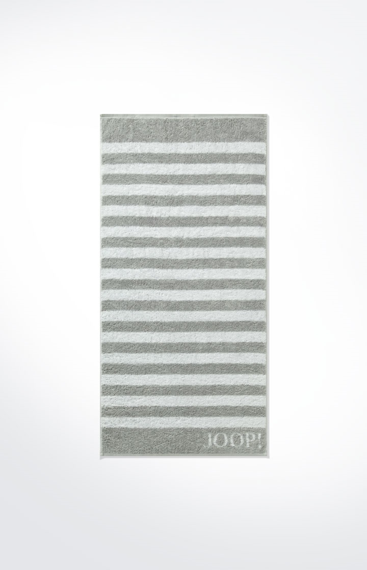 JOOP! Classic Stripes Handtuch 50x100 cm 1610-76 Silber