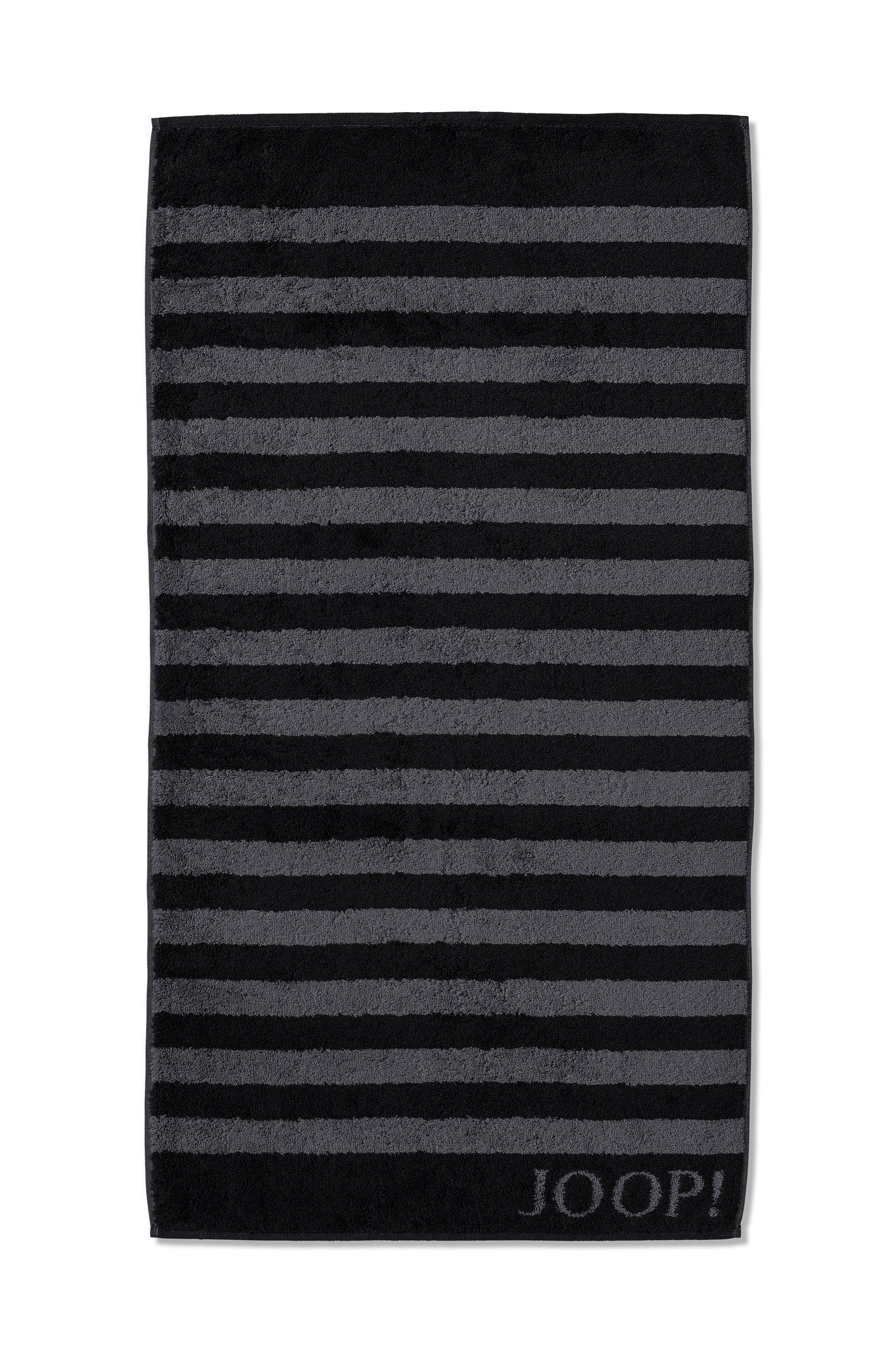 JOOP! Classic Stripes Duschtuch 80x150 cm 1610-90 Schwarz Kollektion 2020