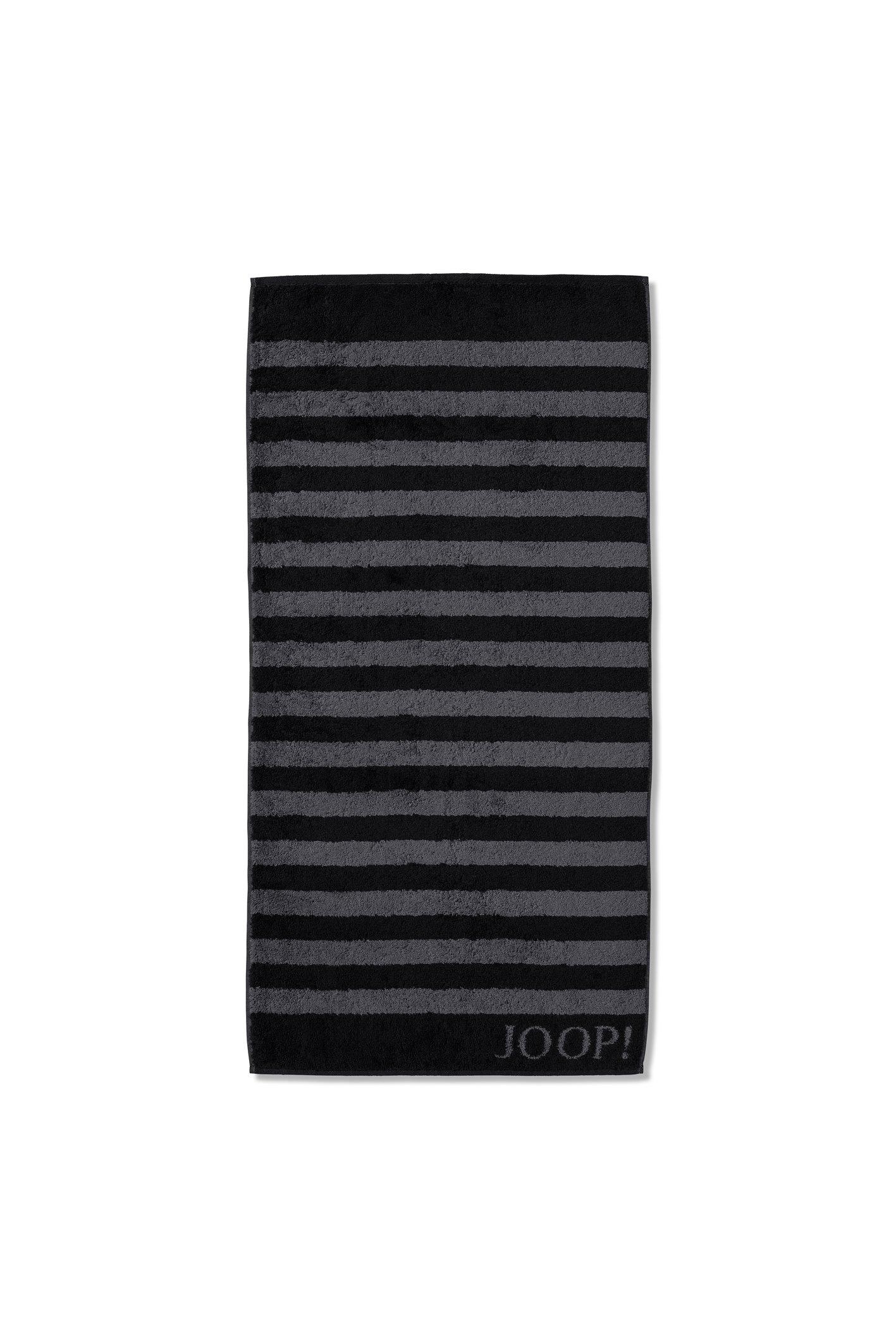 JOOP! Classic Stripes Handtuch 50x100 cm 1610-90 Schwarz Kollektion 2020