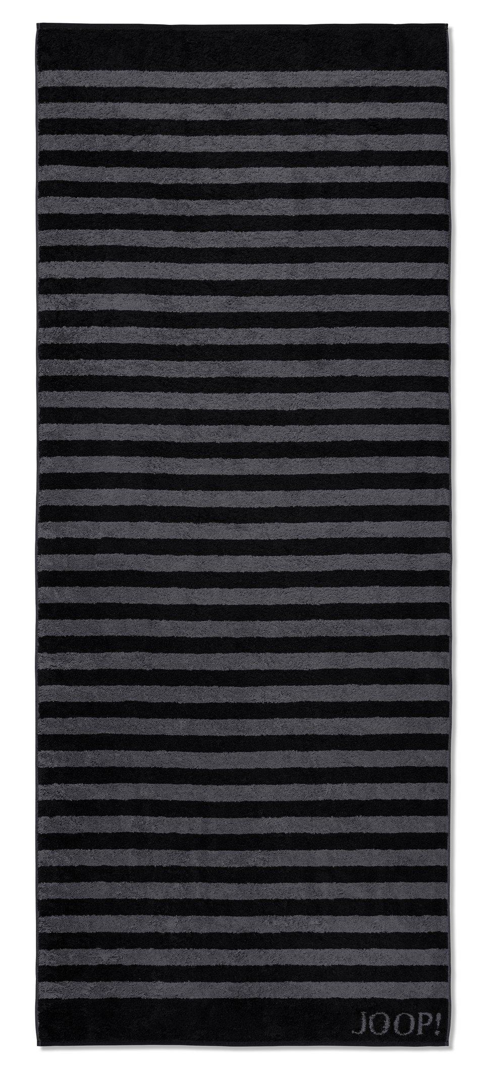JOOP! Classic Stripes Saunatuch 80x200 cm 1610-90 Schwarz Kollektion 2020
