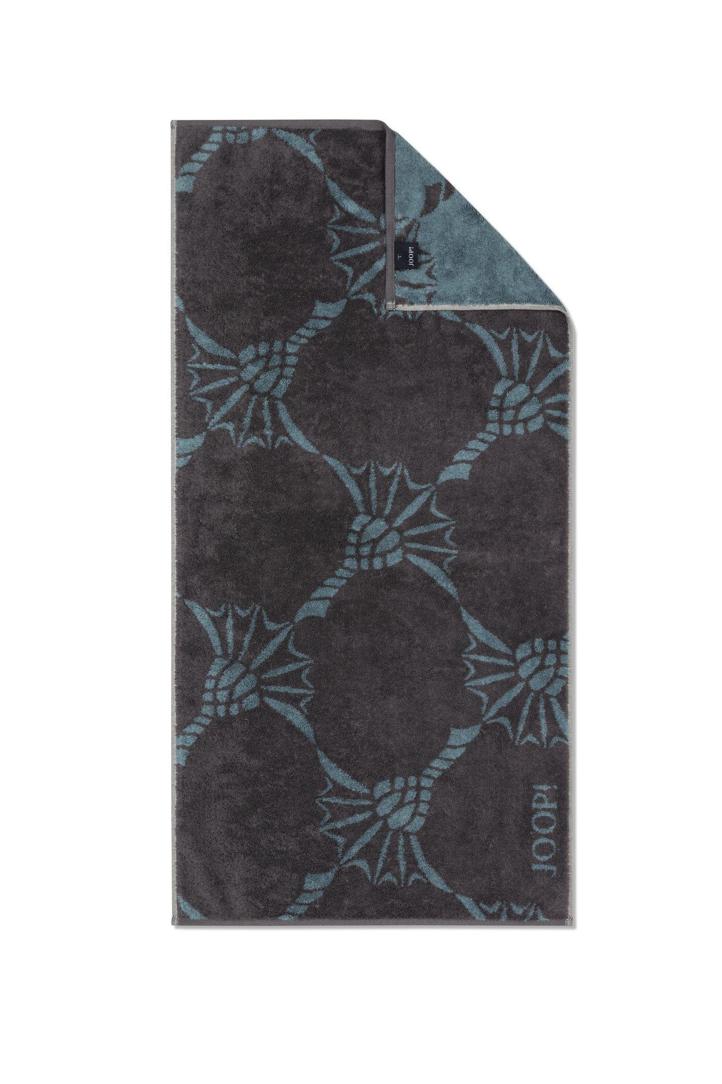 JOOP! Frottierkollektion Infinity Cornflower Zoom 1677-74 Graphite Duschtuch 80x150 cm