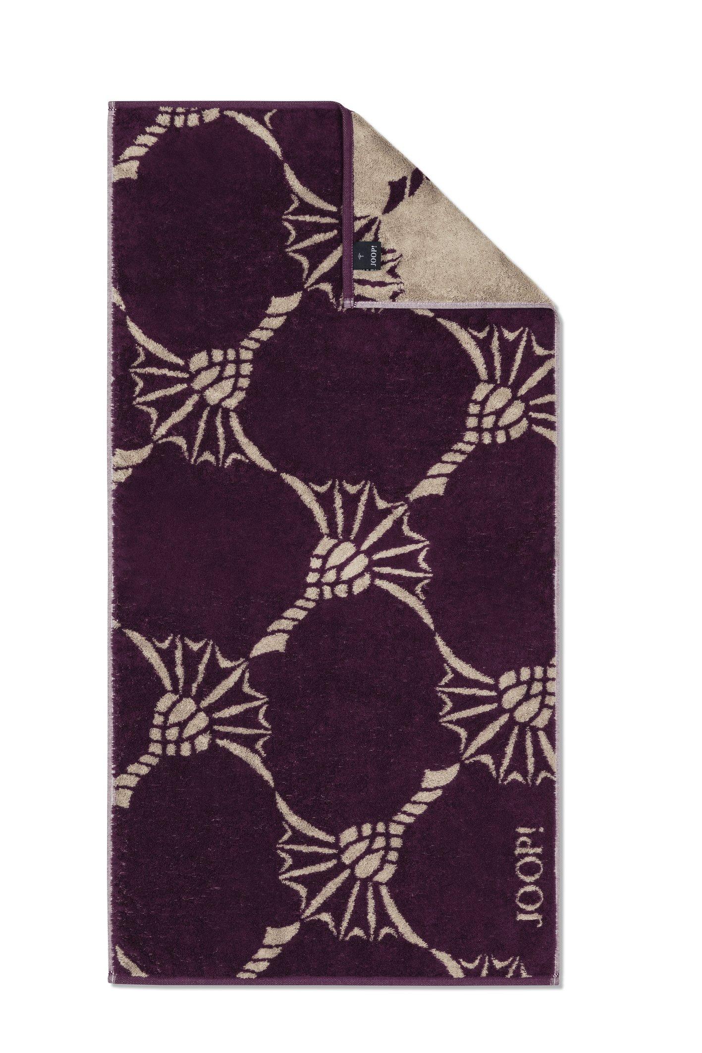 JOOP! Frottierkollektion Infinity Cornflower Zoom 1677-83 Plum Handtuch 50x100 cm