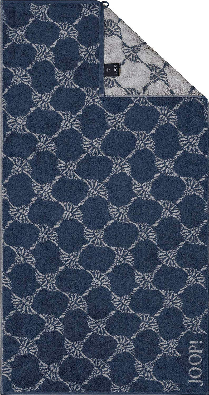 JOOP! Statement 1672 Cornflower 11 Navy Handtuch 50x100 cm