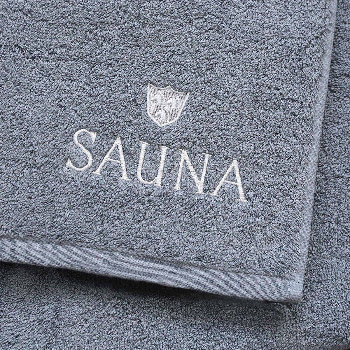 ROSS Saunatuch Wellnesstuch weiche Qualität mit Stickerei und Logo 4 Farben
