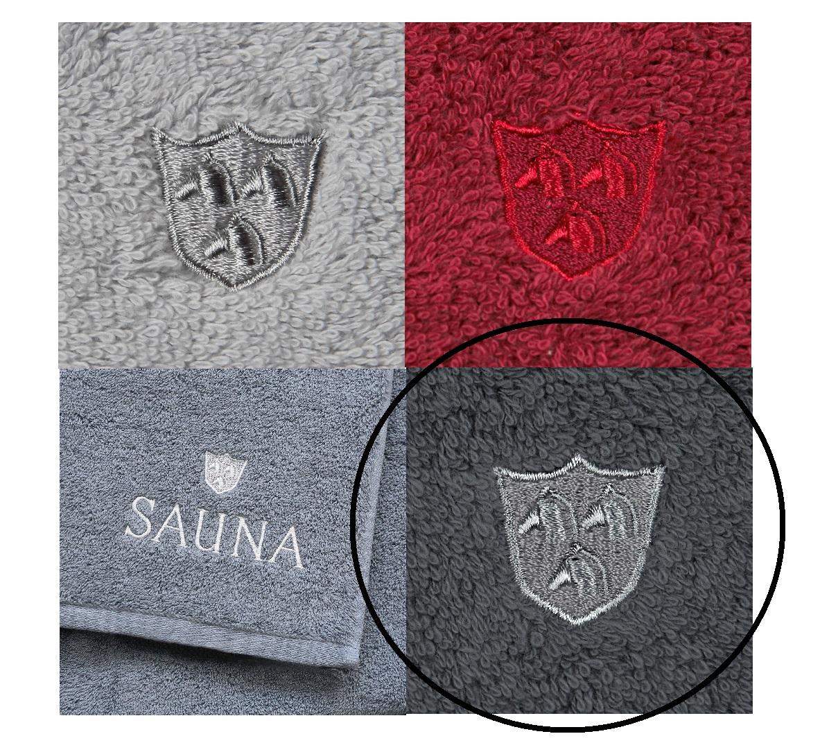 ROSS Saunatuch Wellnesstuch weiche Qualität mit Stickerei und Logo 85 flanell