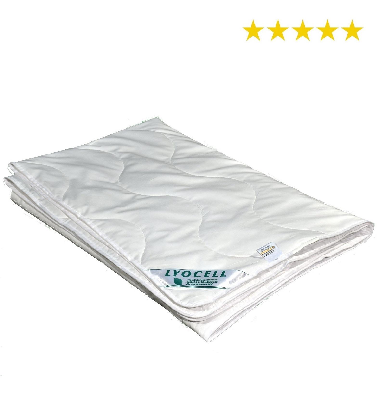 Sommerdecke super leicht Lyocell Tencel Sommerhit 100% Natur 200x220 cm 575 g FG