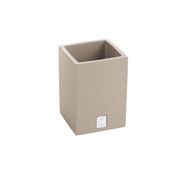 JOOP! Bathline Behälter Becher quadratisch silber Logo 11031413 Grau