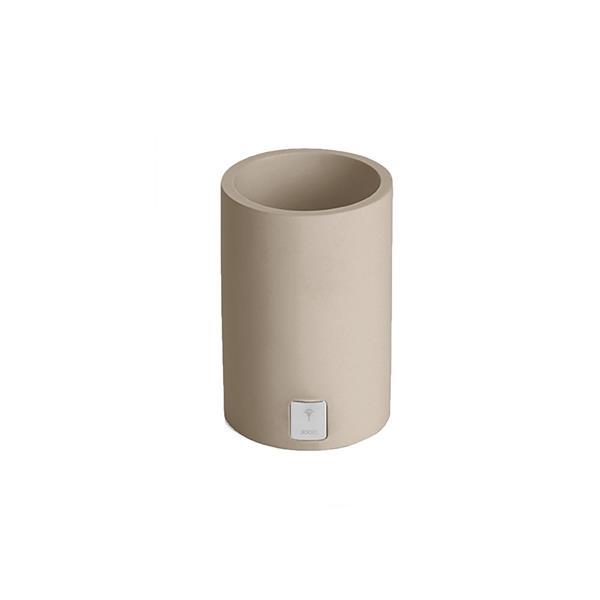 JOOP! Bathline Behälter Becher rund silber Logo 11041413 Grau