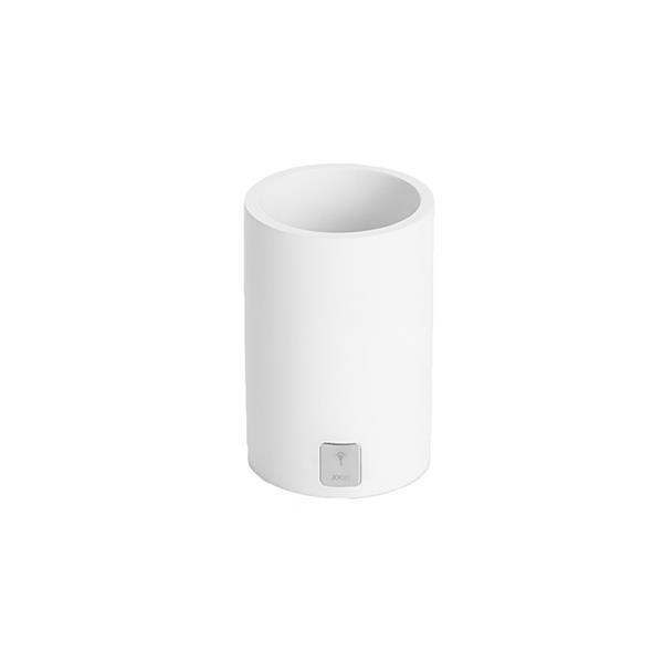 JOOP! Bathline Behälter Becher rund silber Logo 011041410 Weiß