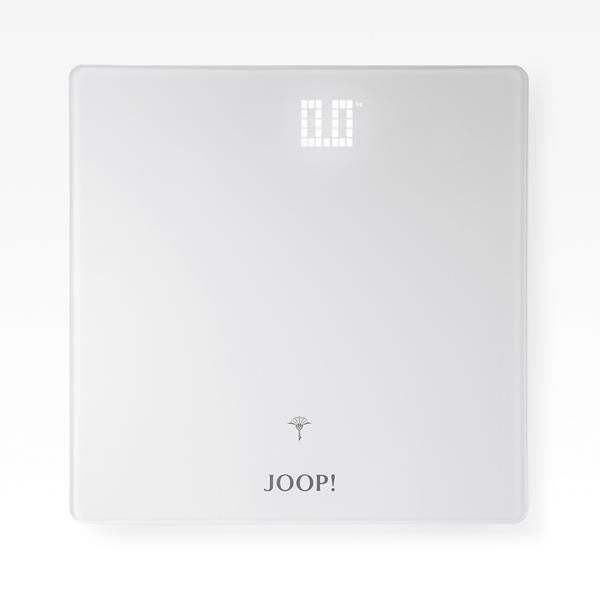 JOOP! Bathline stylische Personenwaage LED Anzeige Weiß 10891310