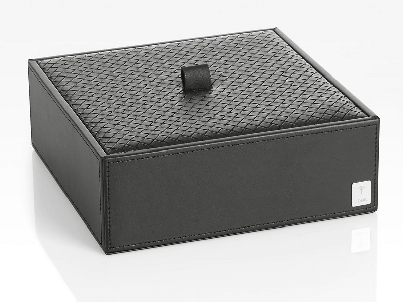 JOOP! Bathline Mehrzweckbehälter XL mit Deckel 011000411 Leder Optik Schwarz