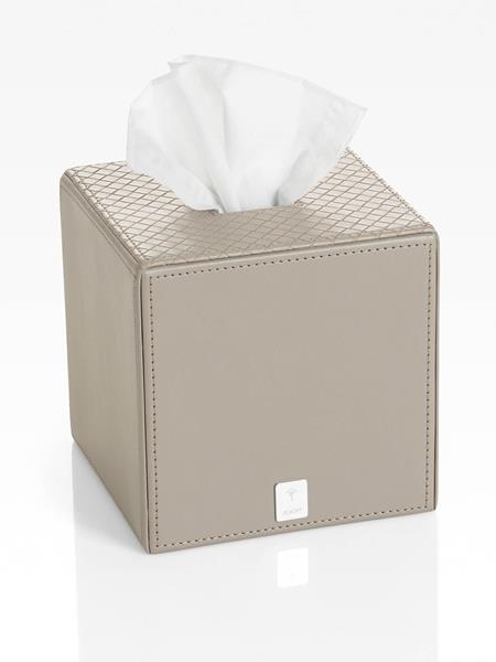JOOP! Bathline Papiertuchbox Grau quadratisch mit Silber Logo 010960413