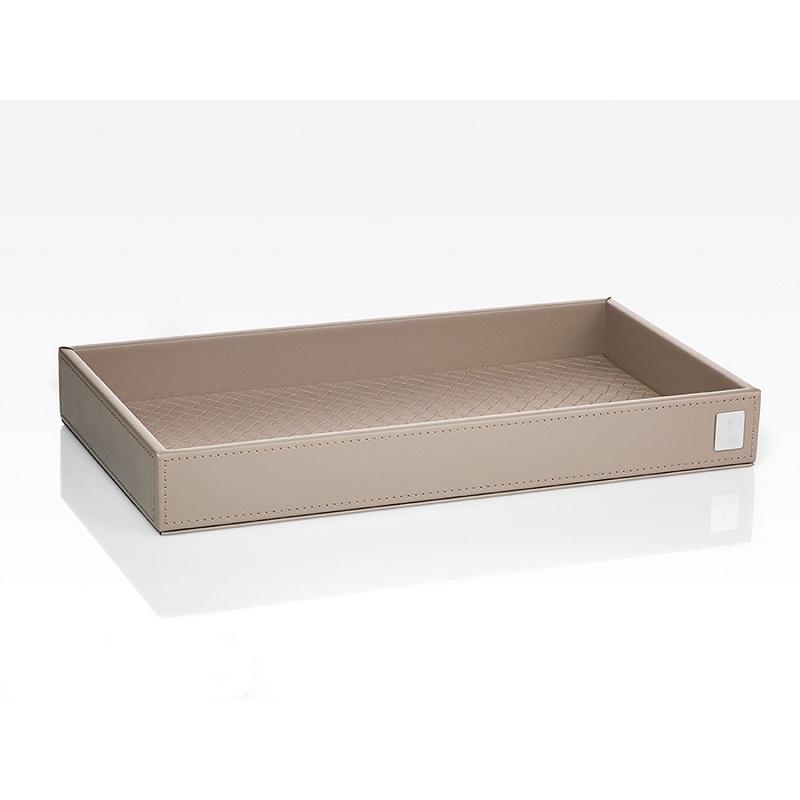 JOOP! Bathline Tablett rechteckig mit Silber Logo 11090413 Grau